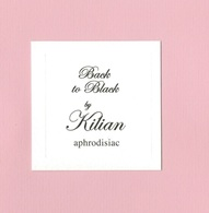 Cartes Parfumées BACK TO BLACK  BY  KILIAN - Cartes Parfumées