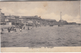 Sampierdarena-Ge-La Spiaggia-Vg Il 28.07.910-Originale100%an - Genova (Genoa)