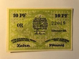 Allemagne Notgeld Oberhof 10 Pfennig - [ 3] 1918-1933 : Weimar Republic