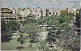 Argentina, Centre Of Buenos Aires From The Plaza Lavalle, 1950s-60s, B.O.A.C.  Unused Postcard [21365] - Argentina