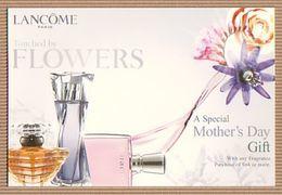 CC Carte Parfumée 'LANCOME' FLOWERS Perfume Card CANADA - Modern (from 1961)