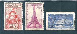 France Timbres De 1939 N°428 A 430  Neufs  ** Gomme Parfaite Cote 58,50€ - Frankreich