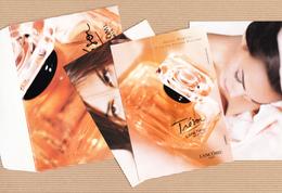 CC Carte Parfumée 'LANCOME' TRESOR Perfume Card 3 CARDS In ENVELOPE - Cartes Parfumées