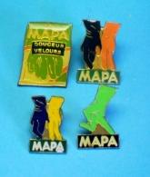 4 PIN'S //  ** DOUCEUR VELOURS / GANTS MAPA ** - Trademarks