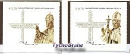 Set Stamps CANONIZATION Pope JOHN PAUL II And JOHN XXIII ITALY 2014 - Poste Italiane Wojtyla Roncalli MNH Stamp - Emissioni Congiunte