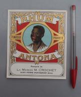 048, Etiquette Rhum Antona, Maurice Crochet à Saint Pierre D'Entrement Dans L'Orne - Rhum