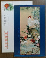 Chanticleer Rooster,China 2000 Flower & Bird Chinese Painting Postal Stationery Card - Modern