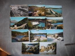 LOT   DE 139 CARTES  POSTALES   DE   BARRAGES   DE  FRANCE - Postcards