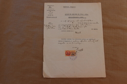 Extrait Registres De L'Etat-Civil, Chaponost (Rhône), Né En 1922, établi En 1950 - Collections