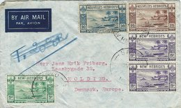 New Hebrides. English & French Legends. Cover Sent To Denmark.  H-1369 - New Hebrides