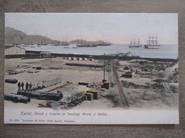 Tarjeta Postal - Chile Chili - Taltal - Muelle Y Cancha De Smelting Works Y Bahia - Ed. Carlos Brandt 3025 Valparaiso - Chile