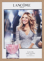 CC Carte Parfumée 'LANCOME' LA VIE EST BELLE L'ECLAT Perfume Card - Cartes Parfumées