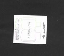 CARTE LACOSTE - Cartes Parfumées