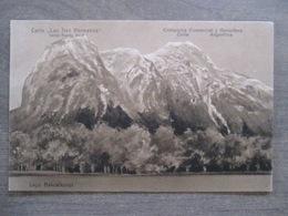 """Tarjeta Postal - Argentina Chile Chili - Cerro """"Los Tres Hermanos"""" Frente Puerto Blest - Compania Comercial Y Ganadera - Argentine"""