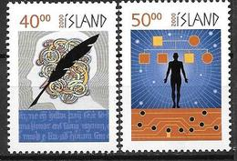 Islande 2000 N°886/887 Neufs** Millénaire - 1944-... Republik