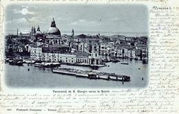 VENEZIA - Panorama Di San Giorgio Verso La Salute, Mondscheinkarte, 4.5.1899 - Venezia (Venice)