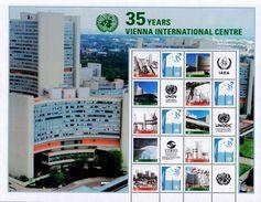 UN Vienna S58 35th Anniversary Personalized Sheet (2014), MNH / United Nations - Blocks & Sheetlets