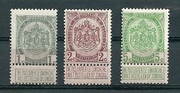 """81/83  XX Postfris - Cote 125,00 """"kwaliteitszegels"""" - 1893-1907 Armarios"""