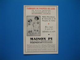 (1936) Fabrique De Poupées De Luxe, Bébés CAPI - MAISON PI - Perpignan (Pyrénées Orientales) - Old Paper