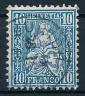 31 / 23 Sitzende Helvetia Sauber Gestempelt - Einkreisstempel ZÜRICH - 1862-1881 Sitzende Helvetia (gezähnt)