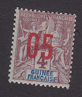 French Guinea, Scott #49, Mint Hinged, Navigation And Commerce Surcharged, Issued 1912 - French Guinea (1892-1944)