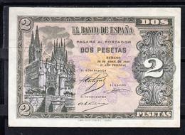 ESPAÑA 1938. 2 PESETAS. CATEDRAL DE BURGOS .SERIE I .NUEVO  SIN CIRCULAR. MAGNIFICO BILLETE  B825 - [ 3] 1936-1975 : Regency Of Franco