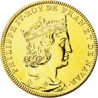 France, Médaille, Les Rois De France, Philippe IV, SPL+, Copper-Nickel Gilt - France