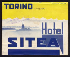 (4 Scans) TORINO - HOTEL SITEA - Publicité Pubblicità BROCHURE GUIDE FOLDER 1934 (see Sales Conditions) - Dépliants Turistici
