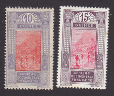 French Guinea, Scott #70-71, Mint Hinged, Ford At Kitim, Issued 1912 - French Guinea (1892-1944)