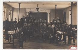 CARTE PHOTO- GROUPE MILITAIRES SOLDATS FRANÇAIS -a Table -1906- 2scans - Guerres - Autres