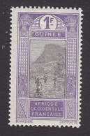 French Guinea, Scott #96, Mint Hinged, Ford At Kitim, Issued 1912 - French Guinea (1892-1944)