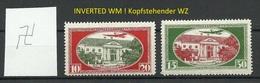 LETTLAND Latvia 1927 Michel 159 - 160 A Inverted WM Kopfstehender WZ * - Lettland