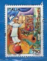 Italia - 1994- Il Circo  £ 750.  Unif 2118.  Usato -  Vedi Descrizione - 6. 1946-.. Republik