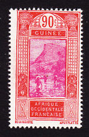 French Guinea, Scott #95, Mint Hinged, Ford At Kitim, Issued 1912 - French Guinea (1892-1944)