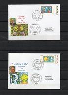 Deutschland, 2008, 2 FDC (individuell - Echt Gelaufen), Michel 2662/63, Grußmarken James Rizzi - FDC: Brieven