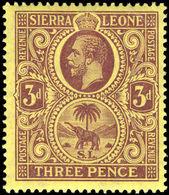 Sierra Leone 1912-21 3d Purple On Pale Yellow Mounted Mint. - Sierra Leone (...-1960)