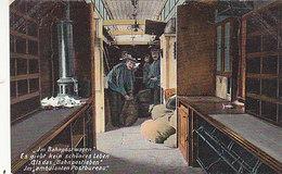 Im Bahnpostwagen - Im Ambulanten Postbureau        (P-164-60712) - Trains