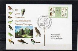 Deutschland, 2008, FDC-Karte (individuell - Echt Gelaufen), Michel 2661, 100 J. Vogelschutzwarte Seebach/Thüringen - FDC: Covers