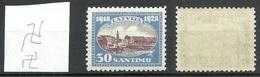 LETTLAND Latvia 1928 Michel 135 Inverted Watermark WZ 5 Z * - Lettland