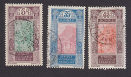French Guinea, Scott #67, 83, 85, Used, Ford At Kitim, Issued 1912 - French Guinea (1892-1944)