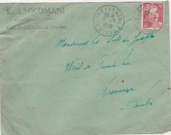 Enveloppe Commerciale 1948 /E. SACCOMANI / Confection Tissus / 25 Val De Cusance / Doubs - Maps