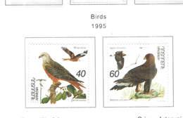 Armenia PO 1995 Birds Scott.499/500 See Scan On Scott.Page - Armenia