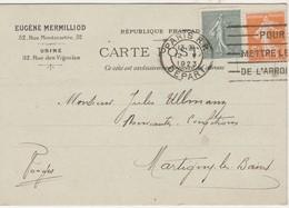 Carte Commerciale 1923 / Eugène MERMILLIOD / Chapeaux / 52 Rue Montmartre / Paris - Maps