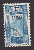 French Guinea, Scott #112, Used, Ford At Kitim Surcharged, Issued 1924 - French Guinea (1892-1944)