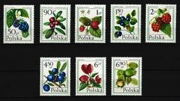 POLEN - Mi-Nr. 2487 - 2494 Waldfrüchte Postfrisch - 1944-.... Republik