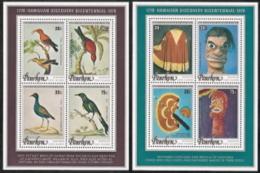 Penryn,  Scott 2018 # 96a-96b,  Issued 1978,  2 S/S Of 4,  MNH,  Cat $ 8.50,  Birds - Penrhyn