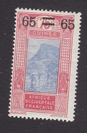 French Guinea, Scott #108, Mint Hinged, Ford At Kitim Surcharged, Issued 1924 - French Guinea (1892-1944)