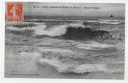 LE TOUQUET - PARIS PLAGE - N° 1355 - GROS TEMPS - CPA  VOYAGEE - Le Touquet