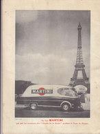 Gazette Martini ,No 7 De Juillet/Aout 1954,car Martini Du Tour De France Au Dos,32p.2 Scans - Alcohols