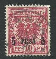 DOA 3c, 5 Pesa/10 Pf. M. Zentr. Stpl. TANGA. Geprüft - Colonia: Africa Orientale